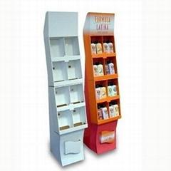 Cardboard cosmetic display stand