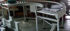 Gravity roller bending conveyor