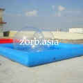 Inflatable water pool, swimming pool,