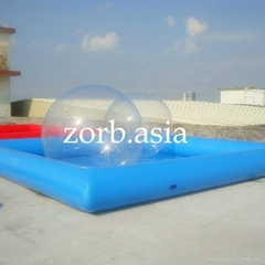 Inflatable water pool, s