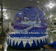 Hot sale giant inflatable snow globe for sale