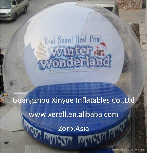 Hot sale giant inflatable snow globe for sale 4