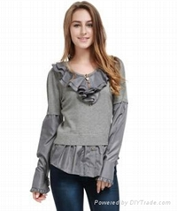 Latest new style wholesale sweaters woolen sweater designs for ladies european s