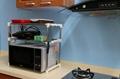 Plastic kitchen storage shelf/rack