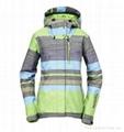 Colored Stripes multifuncional Ski Jacket