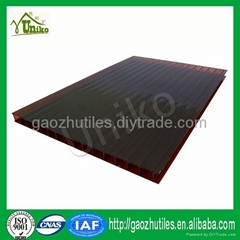 tinted double wall polycarbonate sheet 4mm pc hollow sheet