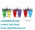 china 8pcs condiment set salt pepper oil glass bottle mug with wire stand 2
