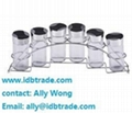 china 8pcs condiment set salt pepper oil glass bottle mug with wire stand 5