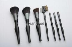 7 pieces makeup brush set with a cloth bag