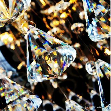 modern glass ball pendant crystal light 4