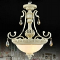 White Chandelier Crystal Lamp