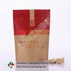 Wholesale Packaging Bags Brown Kraft Paper Bag for Tea