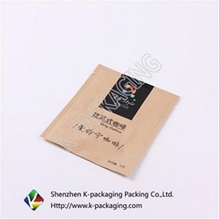 3-side Seal Kraft Paper Coffee Packaging Bags