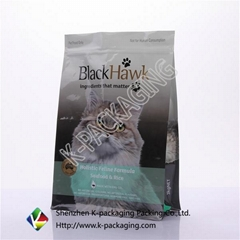 Square Bottom Side Pet Food Packaging