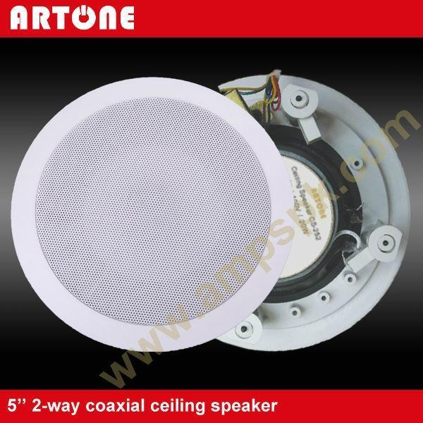 White 20W PA Coaxial Ceiling Speaker CS-252 1