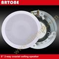 White 20W PA Coaxial Ceiling Speaker