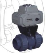 进口台湾VEAPON电动由令塑料UPVC球阀