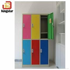 Factory Customized 6 Door Colorful Lockable Steel Worker Lockers