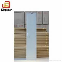 Luoyang Factory KD Structure Steel 1 Door Chaning Room Wardrobe