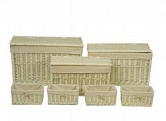 Wicker Storage  Trunks - set of 7