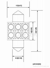 211 Car LED bulb 3-chip 5050SMD*6PCS 11-18V stoplight led lamps