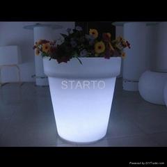 Round Pot LED Flower Pot Garden Decoration Planter Lighting