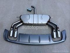 Audi A3 muffler pipe + diffuser