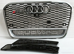 2013 Audi A6 C7 RS6 honeycombe grill with camera bracket (Hot Product - 1*)