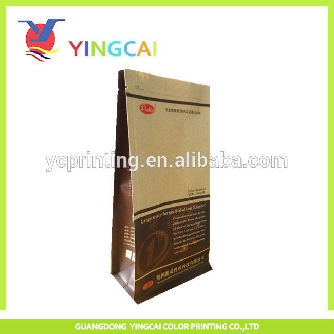 square bottom side gusset recycled kraft paper bag 1