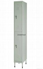 cheap 2 tiers door steel locker for sale