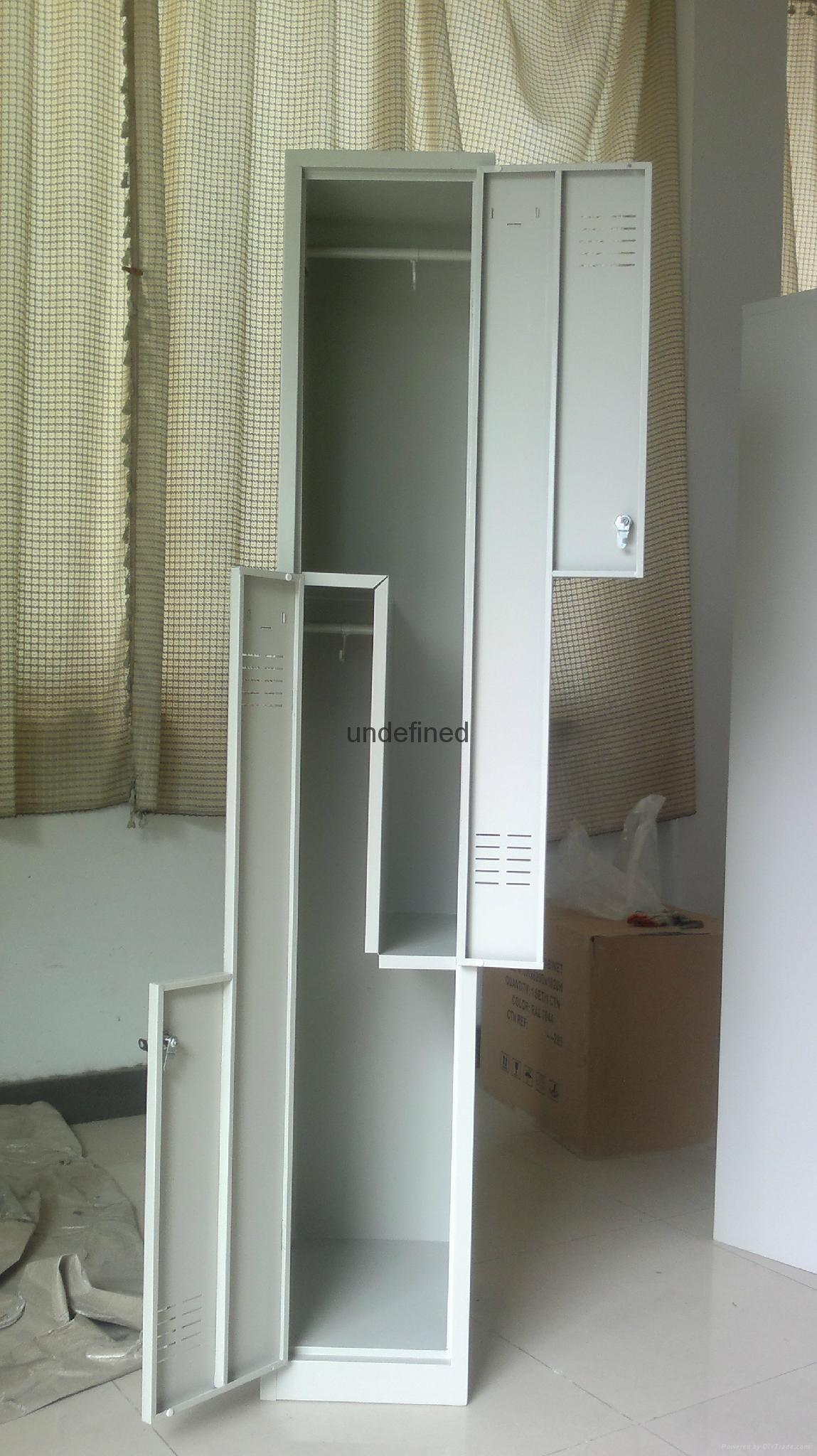 cheap 2 tiers door steel locker for sale 3