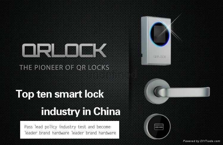 QR code hotel door lock open with cell phone 3
