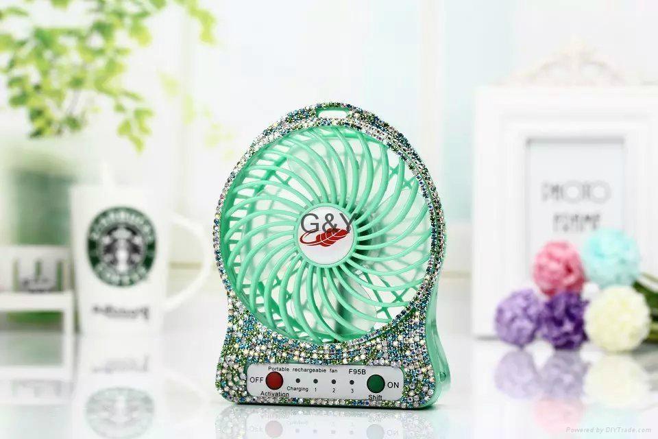 new diamond mini usb fan  2