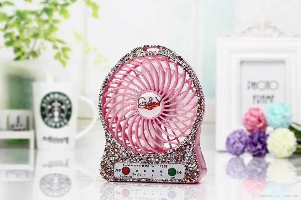 new diamond mini usb fan  4