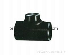 Carbon steel ASME B16.9 equal tee  pipe fittings