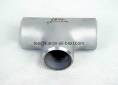 stainless steel straight tee ASME B16.9 pipe fitting