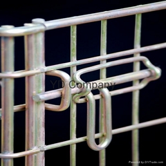Zinc plated mobile wire mesh container