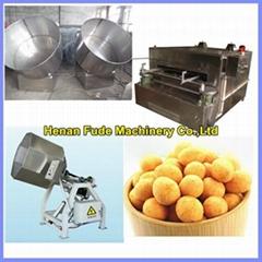 Flour coated peanut machine