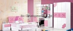 mdf modern kids bedroom set