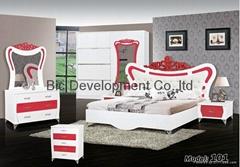 uv high gloss mdf  modern adult bedroom set