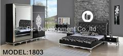 high gloss mdf classical modern bedroom set