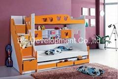 mdf modern wooden bunk bed kids bed
