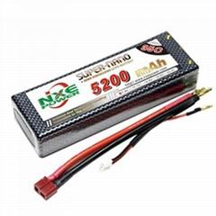 NXE's 5200mah-35c-2s hardcase lipo battery