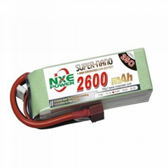 NXE2600mAh-25C-14.8V Softcase RC Helicopter Battery