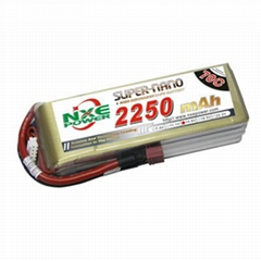 NXE2250mAh-70C-14.8V Softcase RC Helicopter Battery