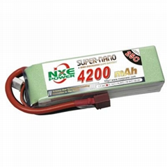 NXE4200mAh-25C-11.1V Softcase RC Helicopter Battery