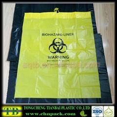 biohazard waste bag with drawstring