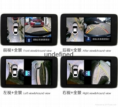 360 degree car all round bird view car parking System with 4 channel camera dvr