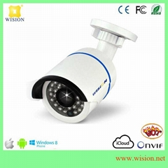 Easy on Android or iphone remote view 1 Megapixel fisheye IP security camera