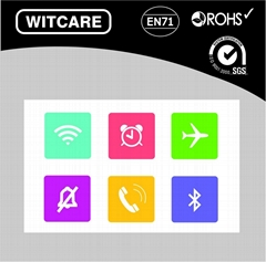 Best Quality Cool Smart NFC Tag NTAG203 NFC Stickers for All NFC Mobile Phone
